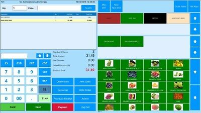 TOUCH  EPOS Software for Corner Shop, Restaurant & Takeaway