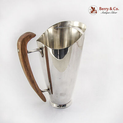 Mid Century Modernist Martini or Water Pitcher Sterling Silver Gorham 1956