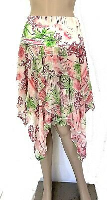 4781f20ca Lilly Pulitzer Silk Blend Multicolored Tiered Handkerchief Skirt - Size 8 -  EUC