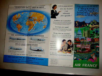 Air France Grande Bretagne 1954. Super Brochure