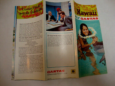 Qantas Australia's Round The World Airline. Hawaii Fly Qantas 1967