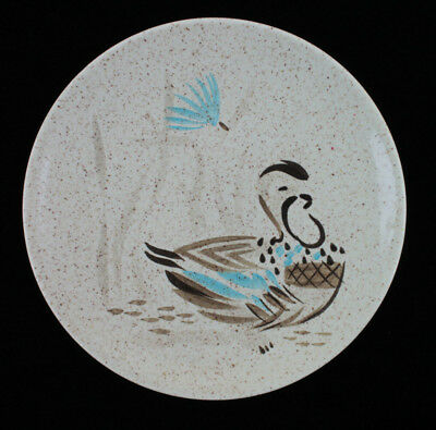 "Vintage Red Wing Hand Painted Bob White Pattern Salad Plate 8"" Diameter Quail"