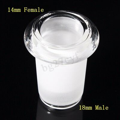 14mm Female to 18mm Male Expander Reducer Adapter Connector Clear Glass  AUS