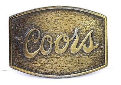 Vintage Coors Company Brewery Brass Belt Buckle Beer