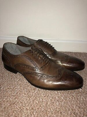 d9be1718cda05 Kin by John Lewis Archie Oxford Real Leather Brogue Men's Shoes Size 9