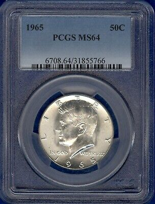 1965 Kennedy Half Dollar PCGS MS64
