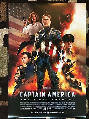 Captain America The First Avenger Original Movie Poster 27X40 DS Rare U.S. Final