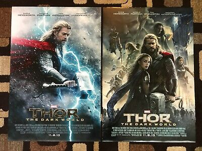 Thor The Dark World Original Movie Poster 27X40 DS U.S. Lot Of Both Styles 2013
