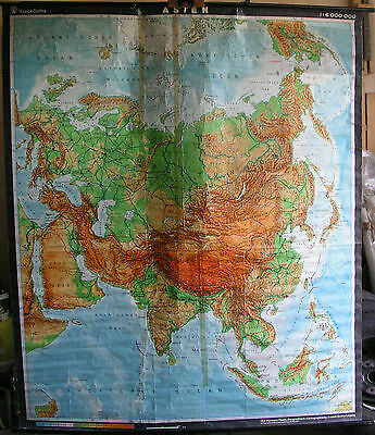 Schulwandkarte Wall Map Wall Map Asian Asia China Ca1970 Role Map 180x213 Map