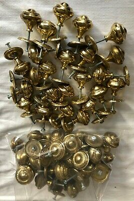54 Round Polished Brass Cabinet Drawer Pulls Knobs Round Backplate Traditional