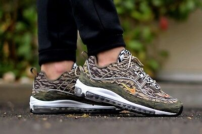 hot sale online 2fc0d 9af0f NIKE AIR MAX 98 AOP KHAKI OLIVE TIGER CAMO 95 97 UK11 BRAND NEW with invoice