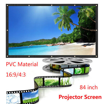 84 Inch Projector Screen Home Theatre HD TV Electric Motorised Projection