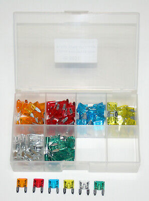Deluxe 120pc. Mini Blade Fuse Set in a Plastic Case 5 10 15 20 25 30amp NEW!