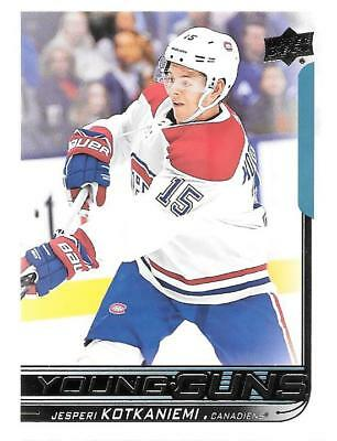 2018 19 Upper Deck Series 1 Jesperi Kotkaniemi Young Guns Rookie # 249