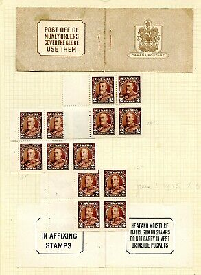 Weeda Canada 218a, 218b VF MH Booklet panes of 4 and 6 on album page CV $270
