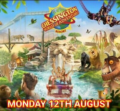 Chessington 6X Tickets For MONDAY 12th August