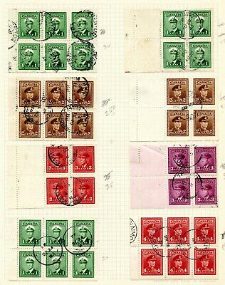 Weeda Canada 249a//337a, C9a Mint and used collection of booklet panes CV $211+