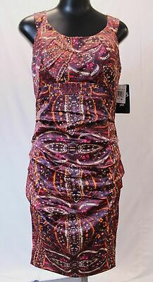 Dress By Jax Women's Short Sleeve Queen Anne Dress HD3 Burgundy Size US:6 NWT
