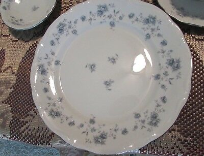 4 Vintage Johann Haviland Blue Garland Bread Butter Plates  Bavaria Germany