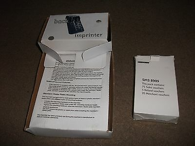 Streamline Back Up Imprinter-Appears Unused In Box-+Sms 8909 Pk Of Sale Vouchers