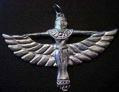 LOOK 2106 Isis Goddess Egypt Silver Charm Pendant Jewelry