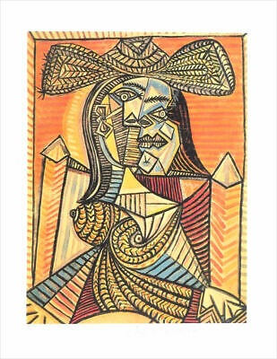 Pablo Picasso WOMAN WITH HAT Limited Edition Giclee Estate Signed 20x13