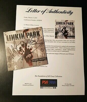 Linkin Park Chester Bennington Mike Shinoda Signed Hybrid Theory PSA/DNA LOA