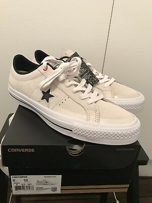 CONVERSE CONS ONE Star Pro Suede Ox Lunarlon Uk8 BNIB Skateboarding