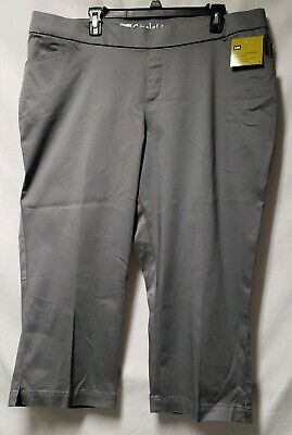 219378b1 NWT Woman Lee NATURAL FIT CAPRI Pants Size 20W Slate Grey PULL ON Style Up  $50