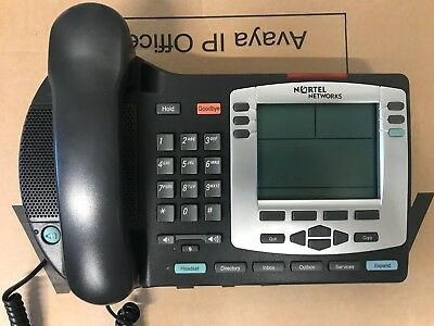 Nortel NTDU92 POE IP Phone i2004 Charcoal