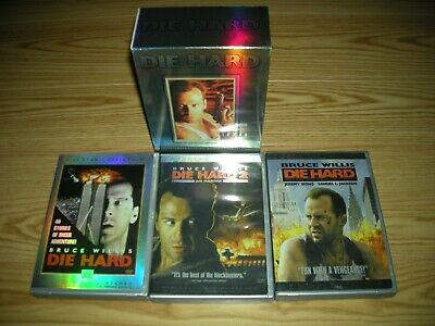 """Die Hard - The Ultimate Collection - 3 Films (6 DVD Set w/Slipcover)  """"Like New"""""""