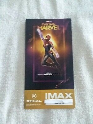 Captain Marvel Collectible #25 of 1000 Week 1 Regal IMAX Ticket Brie Larson