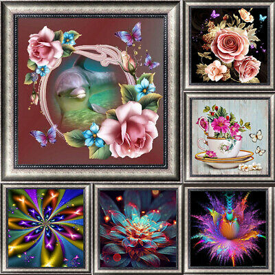 Flower Pattern DIY 5D Diamond Painting Kitten Cross Stitch Kits Home Decor