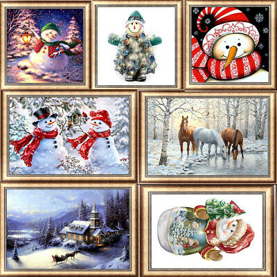 Snowman DIY 5D Diamond Painting Kitten Cross Stitch Kits Home Decor Craft