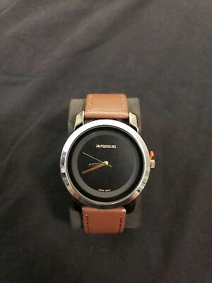 ROUSSEAU THE 20003A LEATHER-BAND WATCH - GUNMETAL/BROWN 43mm