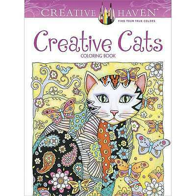 Creative Cats  Coloring Book Creative Haven Dover Publishing