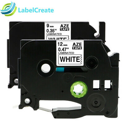 2 PK Compatible Brother Strong Viscosity Label Tape TZe-S221 Black on White 9mm
