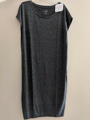 d1fdd3d83fa1c NEW Ingrid & Isabel Maternity Heather Gray Short Sleeve Easy Shift Dress  Size M