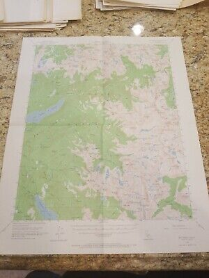 Mt. Abbot CA Quad Topo Map 1953 15 minute series