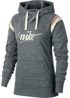 Nike Gyme Vintage Womens Hoodie Grey Size XS Fitness Gym Yoga Pullover Jumper