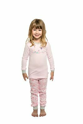 Girls PJs Size 1-7 Marquise Cotton Long Sleeve Pyjamas Pink City (303)
