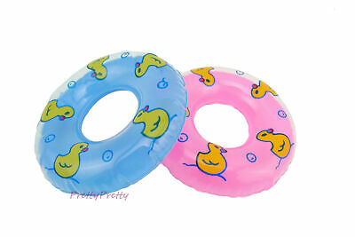 2 Pcs 1/6 Scale Dollhouse Miniature Lifebuoy Swim Ring Toy For 12 in. Dolls Toy