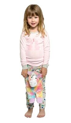 Girls PJs Size 1-7 Marquise Cotton Long Sleeve Pyjamas Pink Bunny Confetti (301)