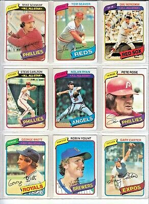 1980 Topps Baseball Cards  36  Incl Hall Of Famers  Leaders  Future Stars