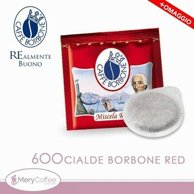 600 Cialde ESE 44 mm Caffè Borbone miscela ROSSA RED +assagio mix