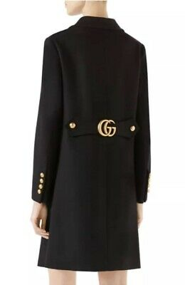 1c6c03633f7 GUCCI WOOL COAT with Double G Size Italy 40  USA Sz 4 NWT 100 ...