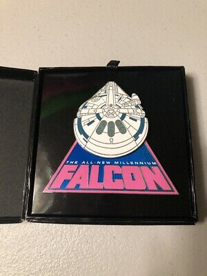 Disney World Parks Star Wars Solo All New Millennium Falcon Jumbo Pin LE 2000