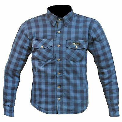Merlin Axe Aramid Lined Overshirt - Blue Check - New for 2019