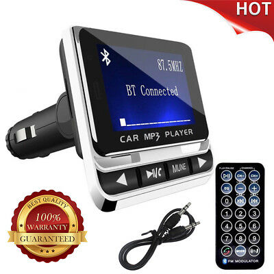 Bluetooth Wireless LCD Car MP3 Player FM Transmitter + Remote SD USB Charger Kit
