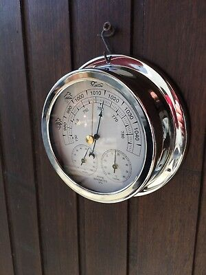Barometre Thermo-Hygrometre Boitier Nickel Couleur Argent
